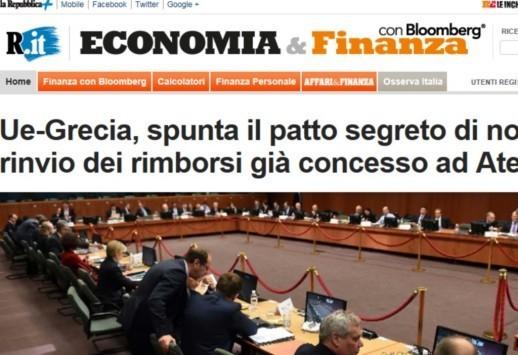 Αποκάλυψη La Repubblica: Yπάρχει μυστική συμφωνία Αθήνας-Βρυξελλών - Το σχέδιο που δεν προβλέπει κούρεμα αλλά αποπληρωμή μέχρι το 2057