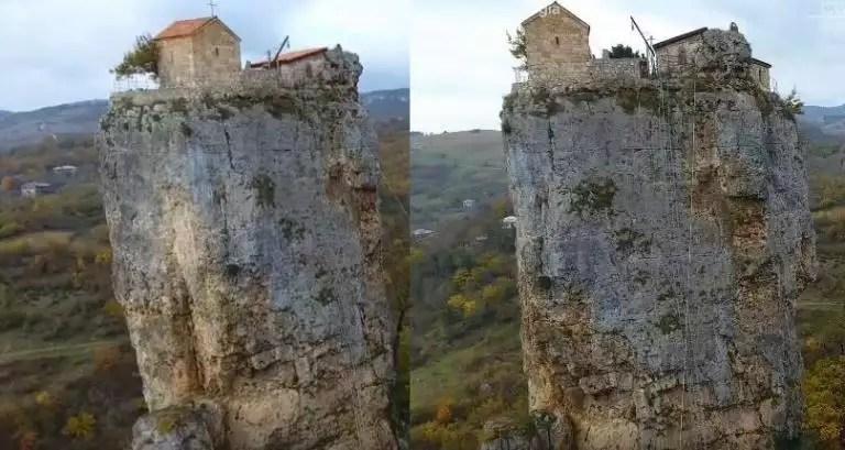 Αυτός ο άνδρας ζει στην κορυφή ενός βράχου 40 μέτρα πάνω από το έδαφος | Newsit.gr