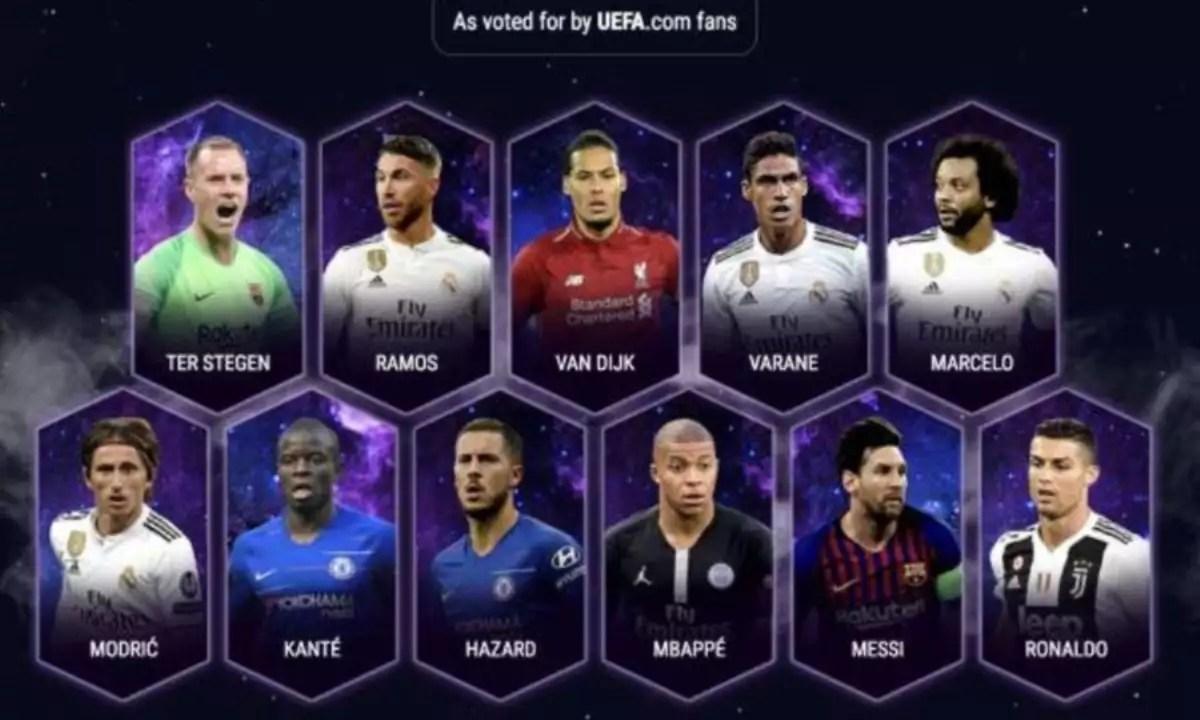UEFA: Αυτή είναι η καλύτερη ενδεκάδα του 2018 [pic] - Ειδήσεις