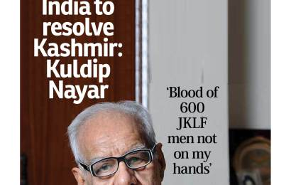 Time for India to resolve Kashmir: Kuldip Nayar