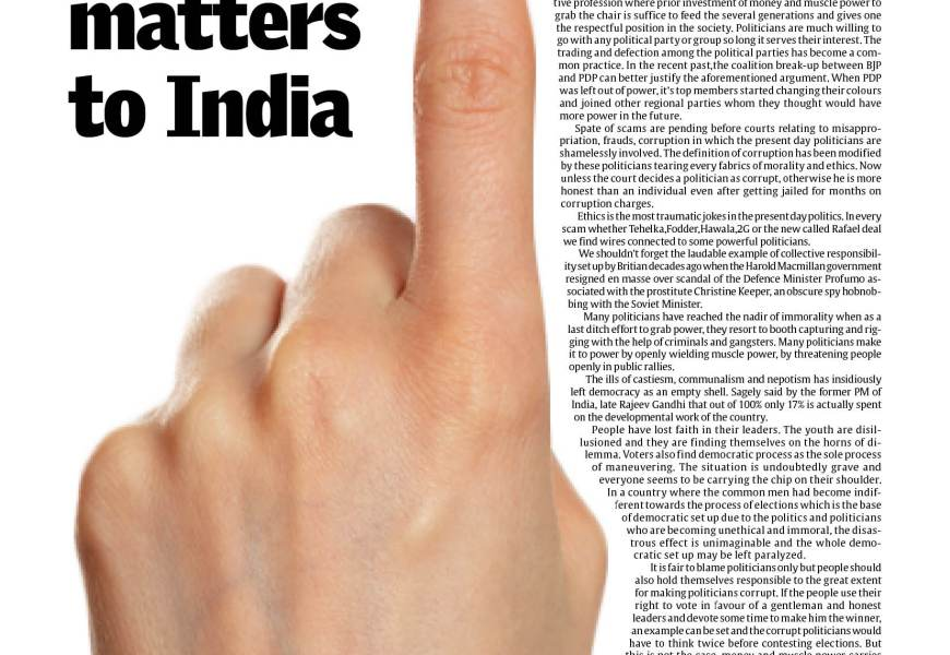 The vote matters to India""