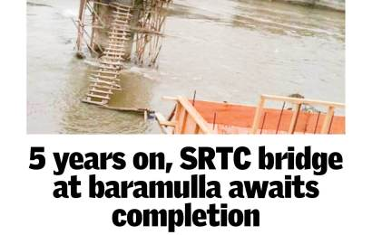 5 years on,SRTC bridge at Baramulla awaits completion