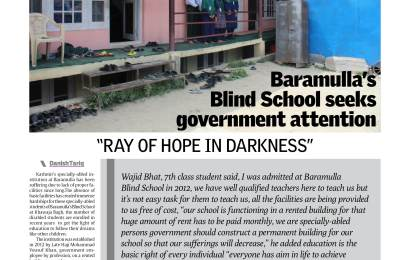 Baramulla's  Blind School seeks government attention