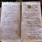 What's in a reporter's notebook?