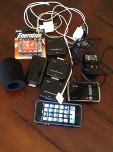 iPhone and gear photo by Neal Augenstein