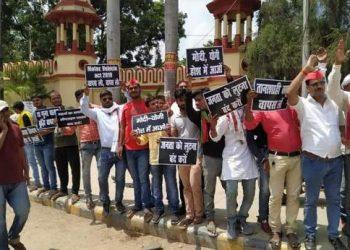 PM मोदी के संसदीय क्षेत्र वाराणसी में नए मोटर व्हीकल एक्ट का विरोध