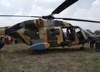 बिहार: BSF के चॉपर की इमरजेंसी लैंडिंग, बाल-बाल बचे CRPF के 9 अधिकारी