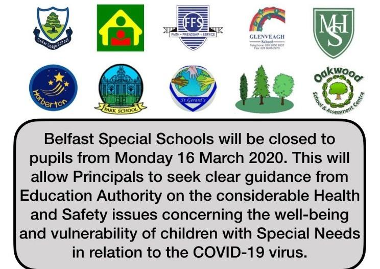Coronavirus: Special Schools to close in Belfast indefinitely from ...