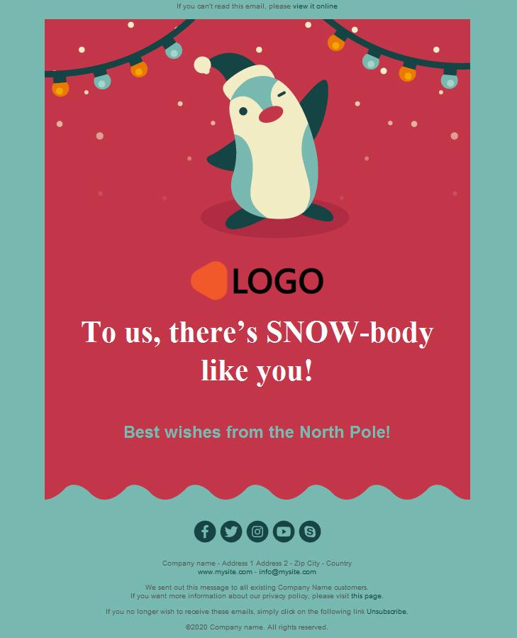 Vuoi risparmiarti un viaggio in posta? Template Email Editabili Per Auguri Di Natale 2020 Originali