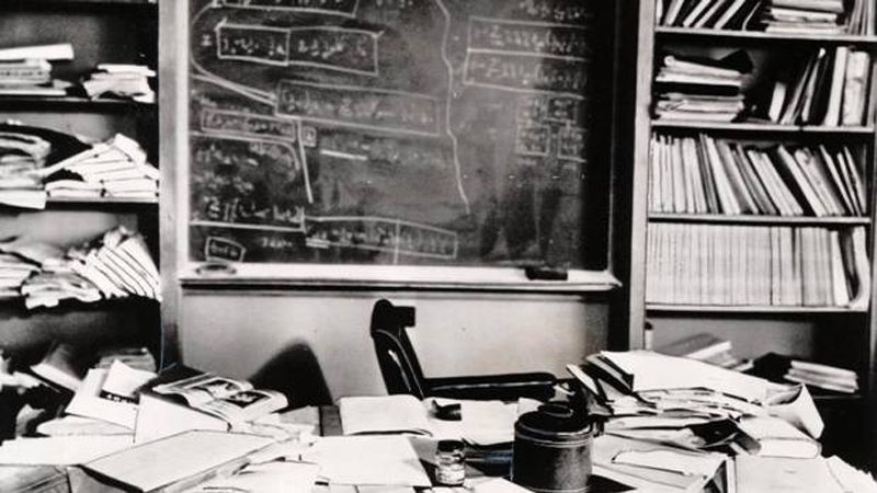 Einstein's desk after he died