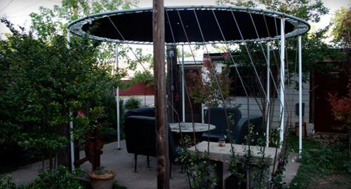 Instead Of Tossing Out Your Old Trampoline Turn It Into