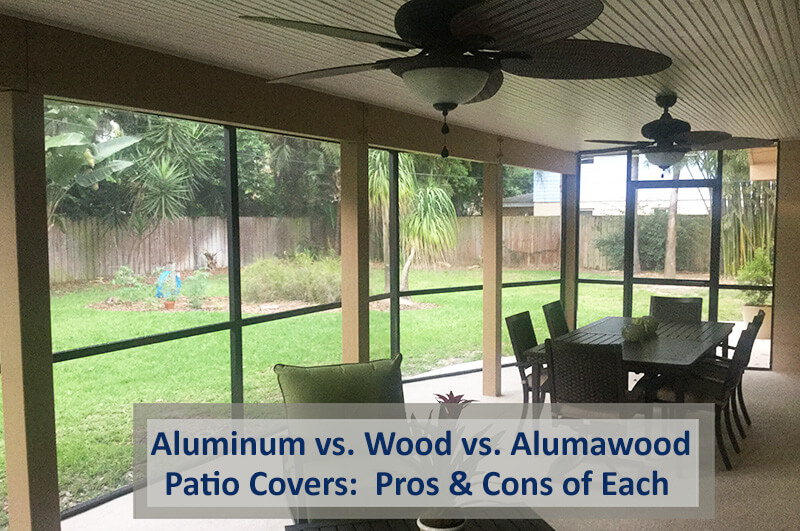aluminum patio covers vs wood patio