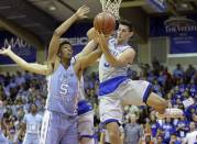 Freshman Tony Bradley (5) is an excellent back-up for Kennedy Meeks. (Photo courtesy of newsobserver.com)