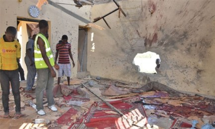 Image result for Two suicide bombers kill three in north Nigeria mosque