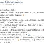 Barbara Barbieri scrive su facebook