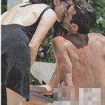 Foto di Ilaria d'Amico incinta al quinto mese di gravidanza in bikini