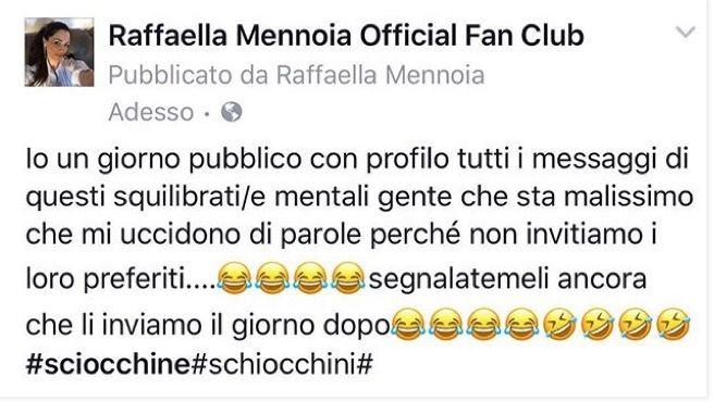Raffaella Mennoia sbotta contro i fans di Marco e Beatrice