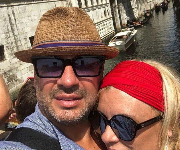 Tina Cipollari con Vincenzo Ferrara