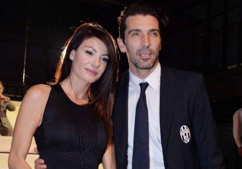 La giornalista Ilaria d'Amico e il portiere della Juventus Buffon