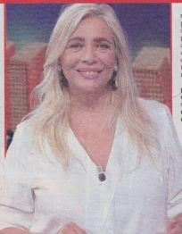 Conduttrice e attrice Mara Venier da poco ritornata a condurre nella rete ammiraglia della Rai .