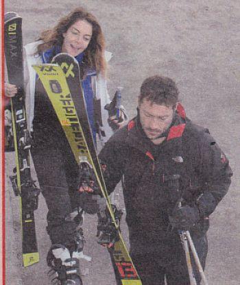 Claudia Gerini e Simon Clementi in montagna