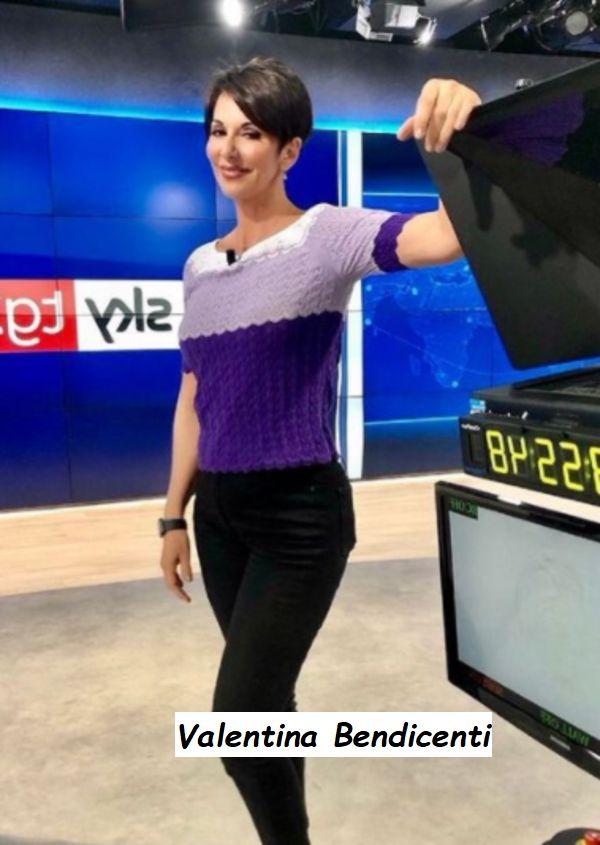 Valentina Bendicenti sorride in studio sky TG24