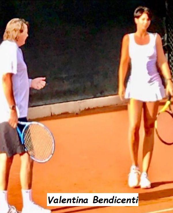 Valentina Bendicenti quando giocava a Tennis con Claudio Panatta