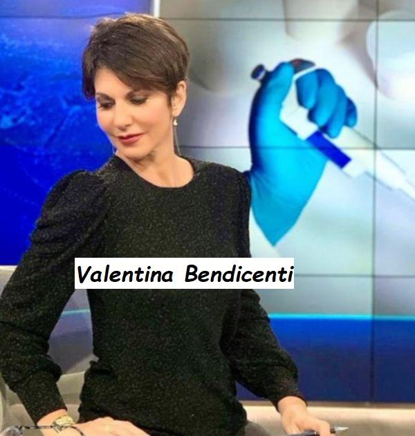 Valentina Bendicenti in attesa di condurre il telegiornale della sera