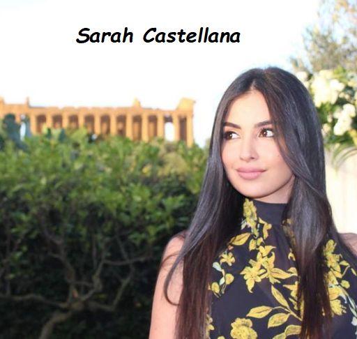 Sarah Castellana visita le rovine di un tempio greco a Palermo