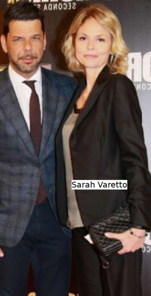 Sarah Varetto con l'ex marito e collega Salvo Sottile