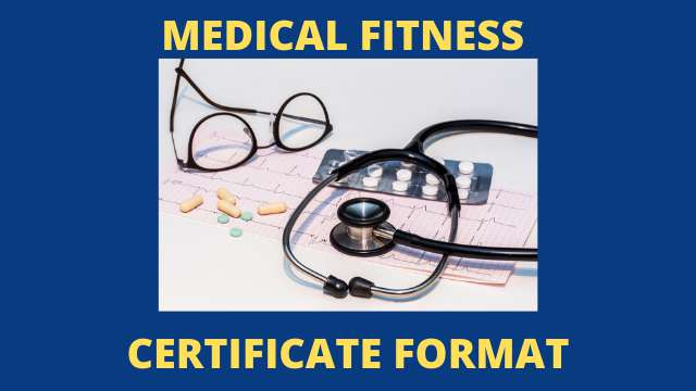 MEDICAL FITNESS CERTIFICATE FORMAT