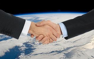space-handshake