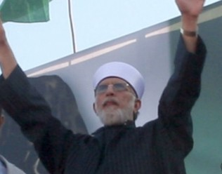 Dr Tahir-ul-Qadri 'million man plus' demonstration turns into a mini Pakistani-spring