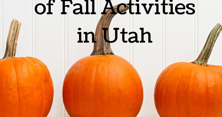 BIG List of Fall Events Around Utah