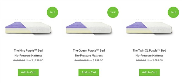 Price of Purple Mattress