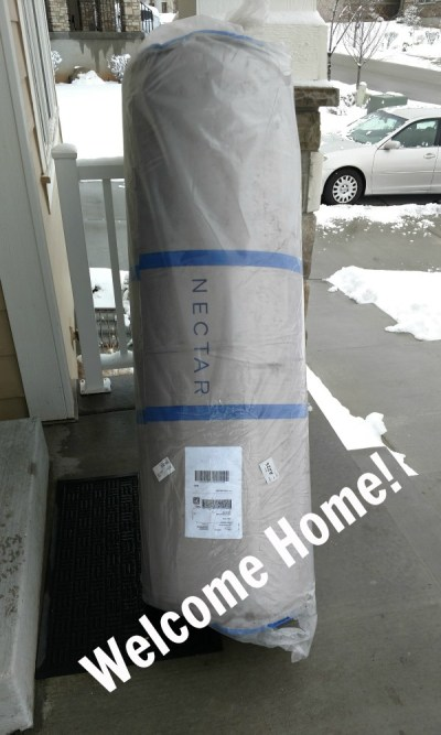 Nectar mattress review - delivered to our doorstep