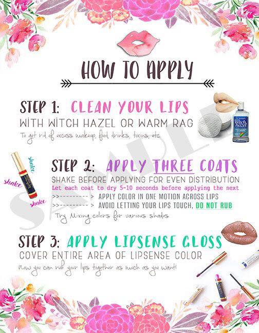 how to apply lipsense