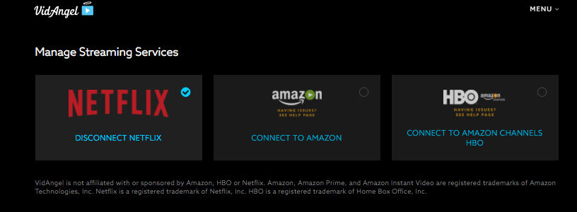 VidAngel Connect to Netflix