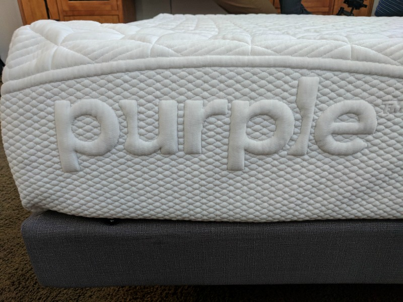 purple adjustable bed and mattress