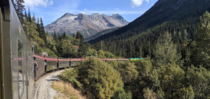 The White Pass and Yukon Route train ride in Skagway Alaska