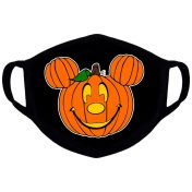 Disney themed pumpkin face mask