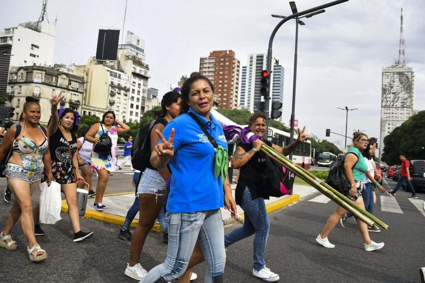 One of the epicenters of the massive march was the center of the City of Buenos Aires. (Photo: Télam).