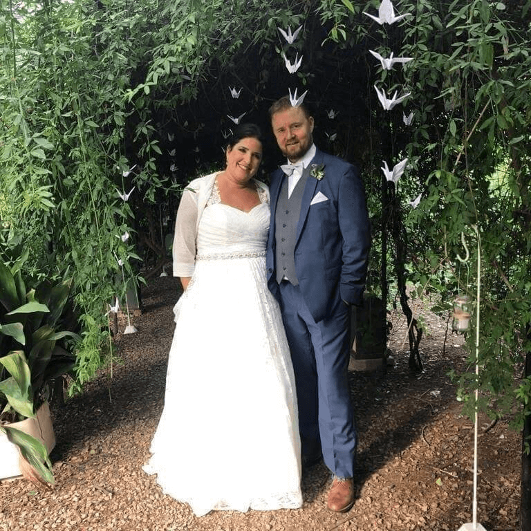 Andrea and her husband Lars Christian Ottesen were married in 2019 in a ceremony that was held in a fifth in the province of Buenos Aires. (Photo: Facebook)