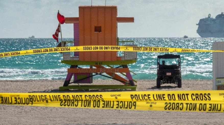 The iconic beaches, closed in Miami. (Photo: EFE).
