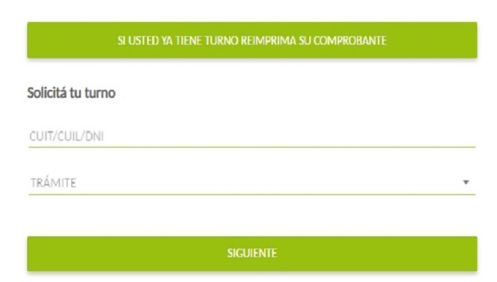 At the bottom of the specific section of the Banco Provincia website you can ask for a turn to be attended at a branch