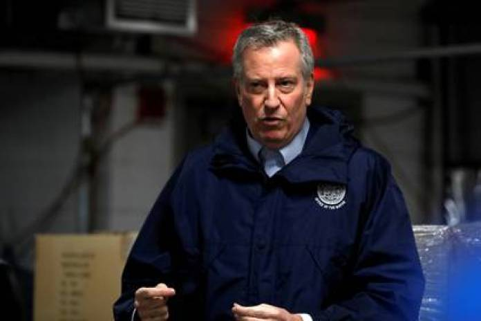 New York Mayor Bill De Blasio. The city is the epicenter of the outbreak in the US (Reuters / Andrew Kelly / file)
