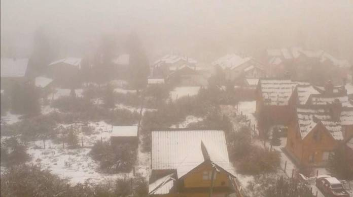 The snowfall was anticipated a month and marked an indication of what winter will be like. (Photo: TN air capture)