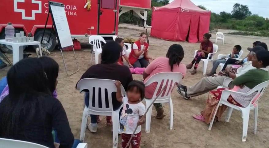 Prevention talks were held against COVID-19 and other diseases. (Photo: Argentina Red Cross video capture).