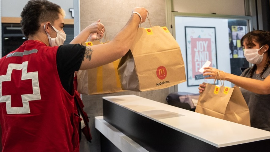 Much of the Mc Donald's stores are closed and only serve with delivery