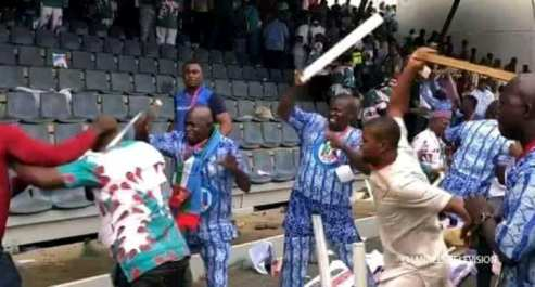 Free For All Fight  At APC National Congress Congress Over 'Unity List' (PHOTOS)